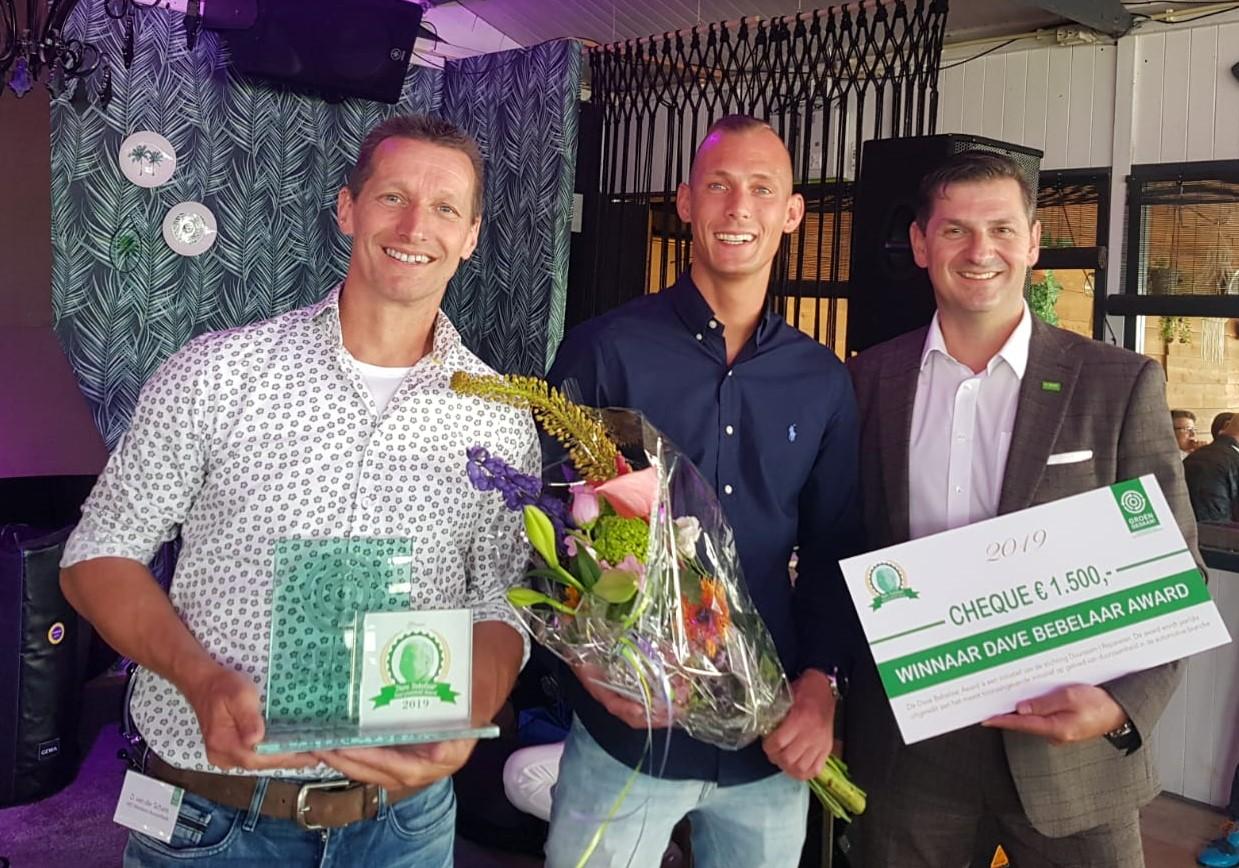 V.l.n.r. Dirk van der Schans, Bruce Schouten (ABS-Westland) en Wim Drost (BASF)