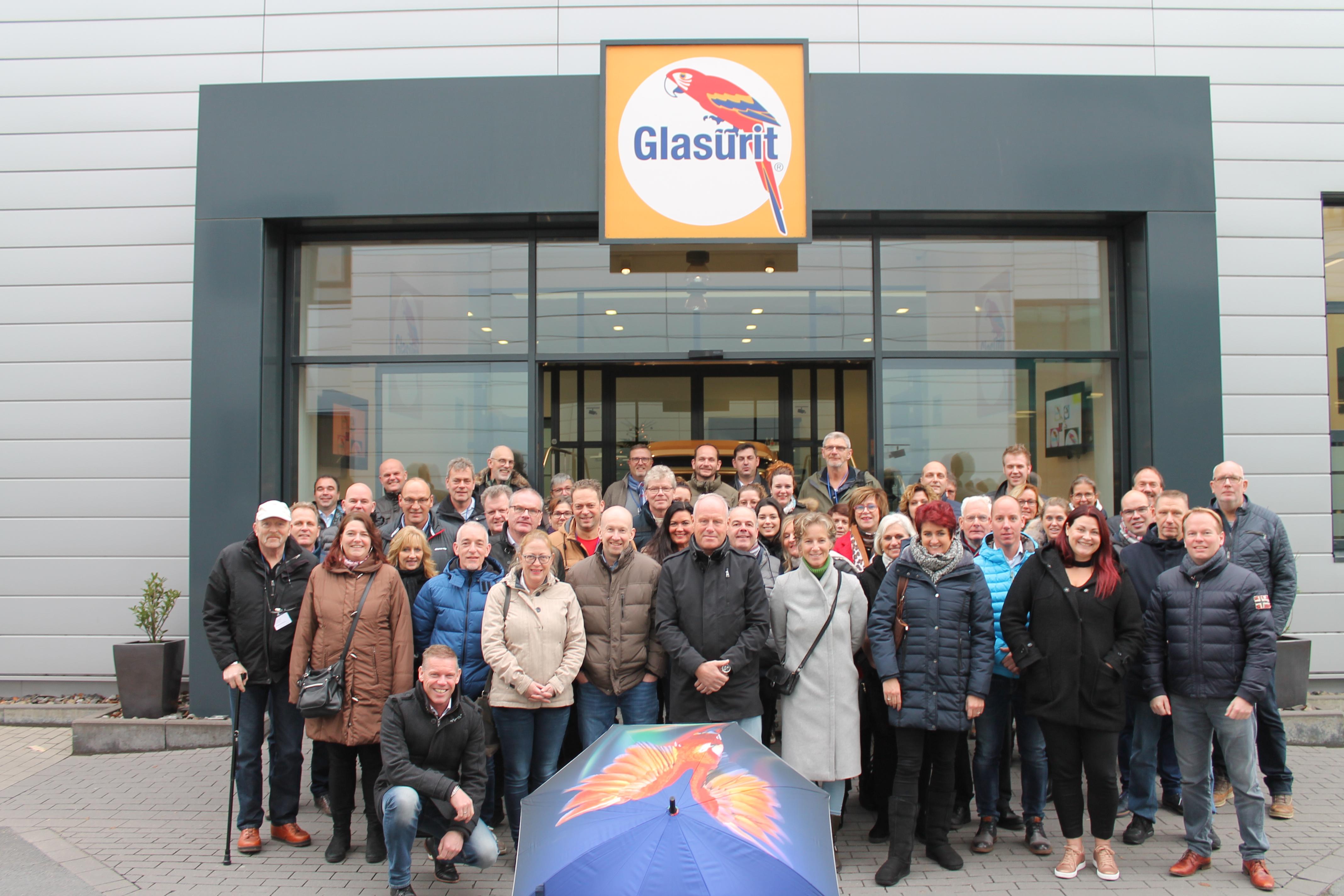 Fabrieksbezoek met Glasurit-relaties