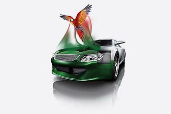 Graustufenkonzept am Fahrzeugmodell | Glasurit
