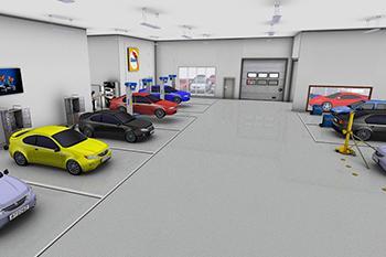 Werkstattplanung: Bodyshop Design - 3D-Modell Fahrzeuge | Glasurit